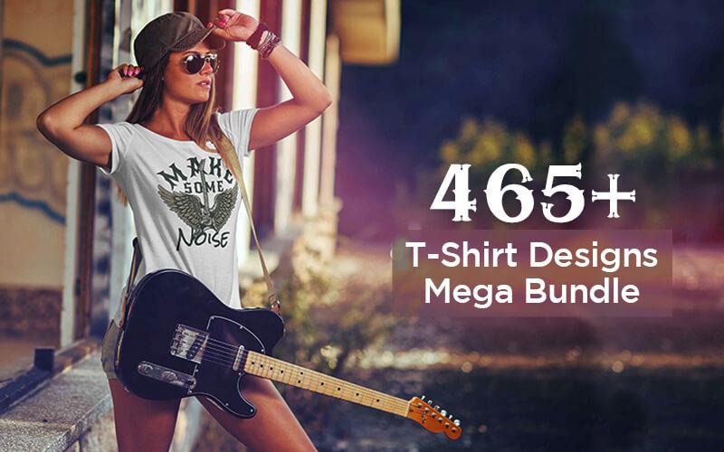 465+ T-Shirt Designs Mega Bundle