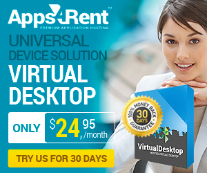 No hardware. No software. No boundaries. Anywhere. Anytime! Apps4Rent Hosted Desktop with Microsoft & Citrix. Securely deliver thousands of corporate apps and           desktops to mobile devices, anywhere