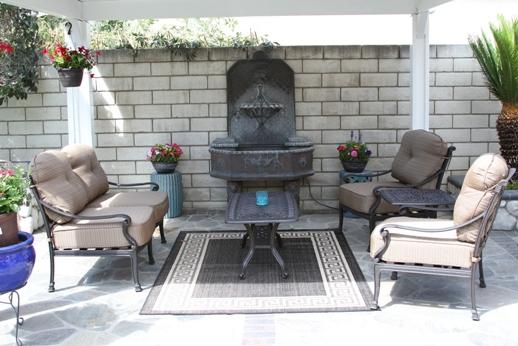 Heritage Outdoor Living Flamingo Cast Aluminum 5pc Outdoor Patio Deep Seating Set - Antique Bronze
