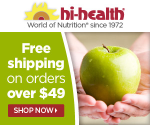 Free shipping on Hi-Health.com orders over $49*