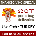 $2 Off Dog Poop Bag Deliveries