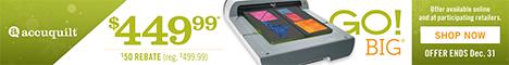Save $50 onGO! Big Electric Fabric Cutter