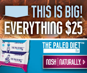 Everything $25! | The Paleo Diet Bar