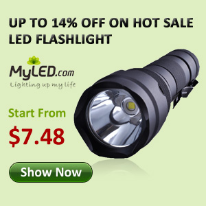 Up to 15% OFF LED Flashlights, Start from $7.48