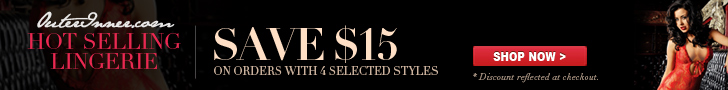 Hot Selling Lingerie Save $15 Off on Orders with 4 Selected Styles