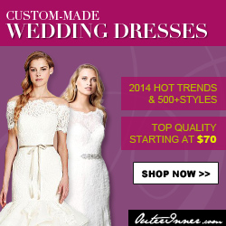 Custom Made Wedding Dresses: 2014 Hot trends & 500+ styles, Top quality staring at $70