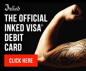 Inked Prepaid Visa Debit Card