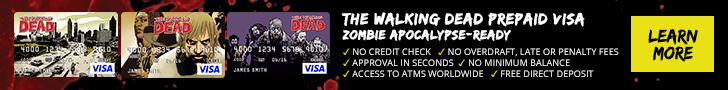 Walking Dead Prepaid Visa Debit Card