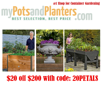 $20 Off Garden Pots and Planters