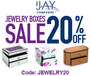 20% off all Jewelry Boxes now!  Code: jewelry20