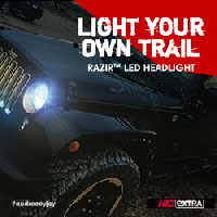 Light Your Own Trail. RAZIR LED