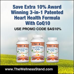 Save extra 10% on Award Winning 3-in-1 Patented Heart Health Formula at thewellnessstand.com