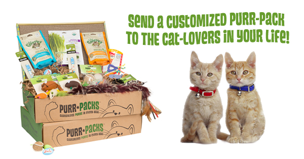 Send a Purr-Pack gift to the cat lover in your life!