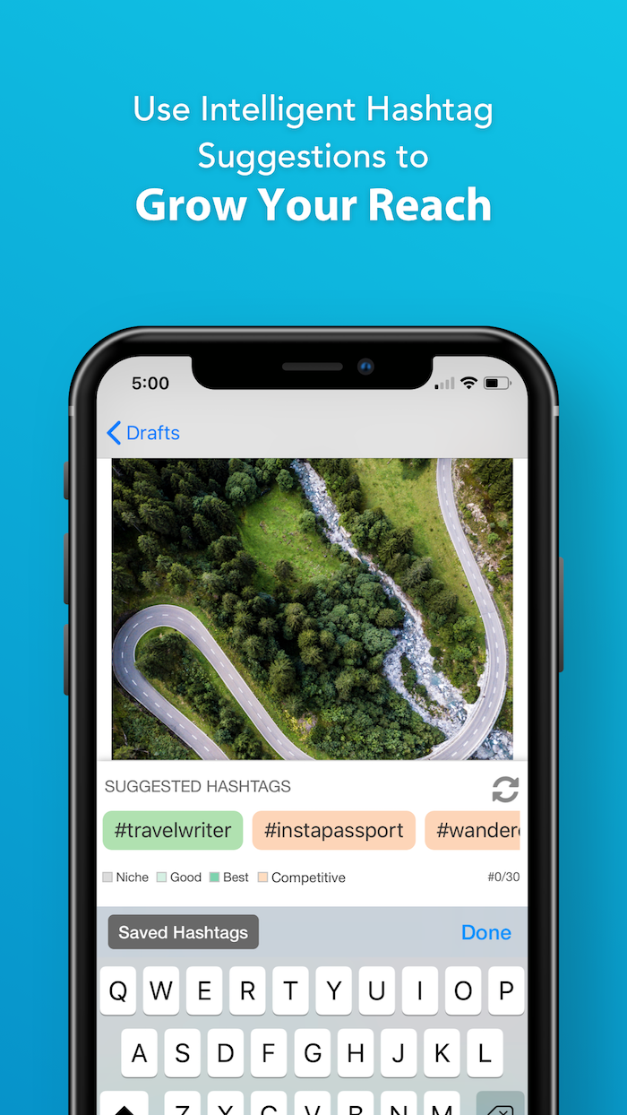 Tailwind's Hashtag Finder