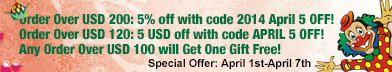 the special offer for 2014 April fool's day