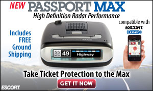 Take ticket protection to the max with the Passport Max radar detector from EscortRadar.com!