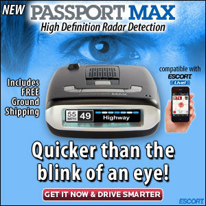 Passport Max, high definition rader, quicker than the blink of an eye from EscortRadar.com