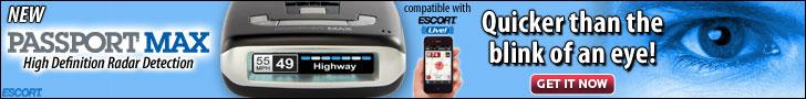 Passport Max, high definition rader, quicker than the blink of an eye from EscortRadar.com