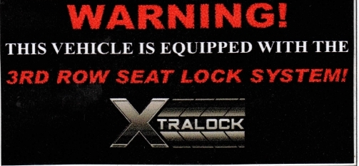 Xtralock 3rd Row Seat Lock System - Buy Now!