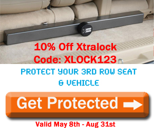 Save 10% off XtraLock - 3rd Row Seat Lock for GM Vehicles! Use Code: XLOCK123 at checkout, Valid through 8/31/14. Get Protected!