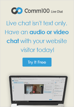Have an audio or video chat with your website visitor today