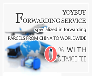 YOYBUY Forwarding Service specialized in forwarding parcels from China to worldwide with 0% service fee
