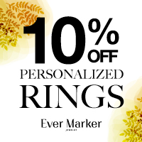 10% off all Personalized Rings