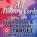 20% Off Military Cards at GreetingCardUniverse.com
