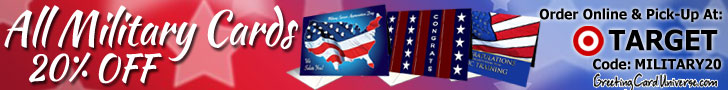20% Off Military Cards at GreetingCardUniverse.com