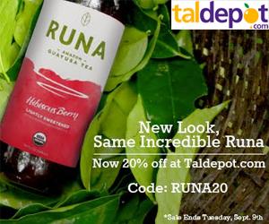 20% OFF All Runa Drinks. 1 coupon per customer per SKU