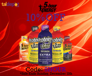 5-Hour Energy Drinks Sale. Use Code: 5HOUR at Checkout and Get 10% OFF