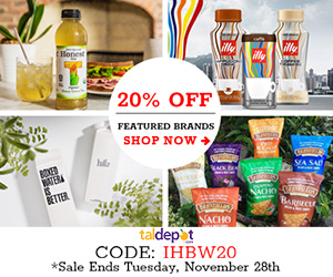 20% Off Featured Brands. Use Code: IHBW20 at Checkout and Get 20% Off for All Illy, Honest Tea, Beanfields and Boxed Water