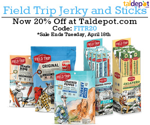 Field Trip Sale. Use Code: FITR20 at Checkout and Get 20% OFF For All Field Trip Jerky and Sticks