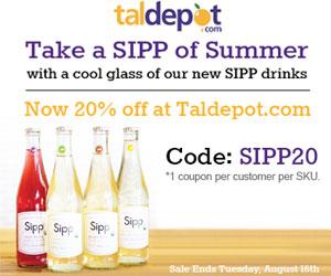 20% OFF All Sipp Drinks. 1 coupon per customer per SKU