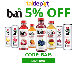 Bai5 Sale. 5% OFF for All Bai5 Drinks.