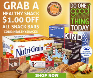 Grab a Healthy Snack and Get $1 OFF on All Healthy Snack Bars
