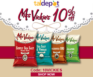 Miss Vickie's Sale - USE Code: 10VICKIES and Get 10% OFF