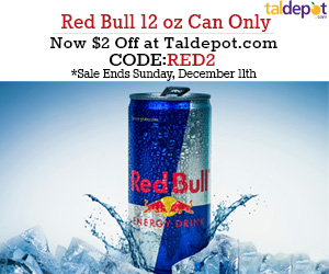 Save $2 OFF for Any Red Bull Drink