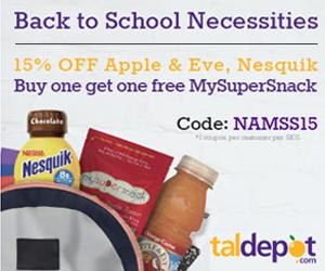 15% OFF Apple & Eve, Nesquik