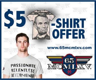 65 MCMLXV $5 Tee Shirt Offer
