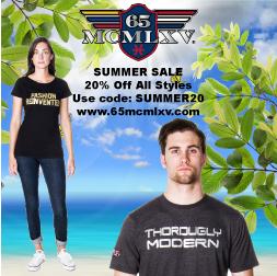 65 MCMLXV Summer Sale Square Pop-Up Banner