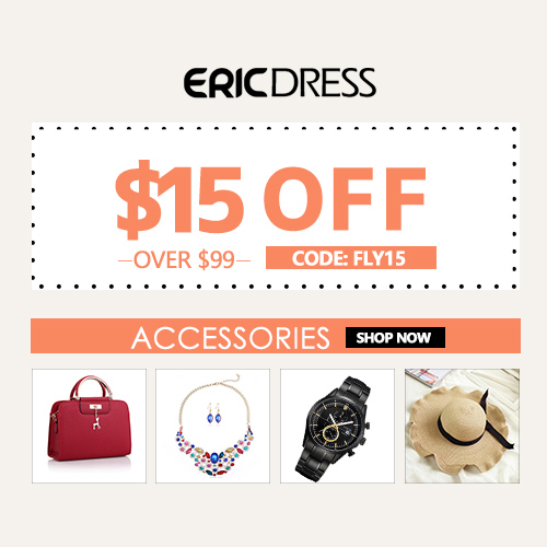 Ericdress Accessories $15 off over $99, Code:fly15