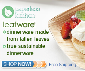 Leafware Disposable Palm Leaf Plates - True Sustainable Dinnerware