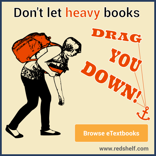 RedShelf - Reduce the weight on your backpack