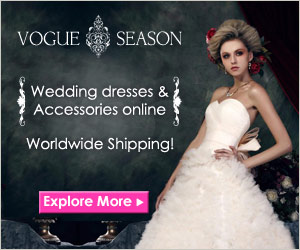 Vogue Season Wedding Dresses & Accessories online worldwide shipping