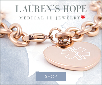 Rose Gold Tone Medical ID Jewelry