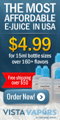 VistaVapors - Only $4.99 - 120+ Flavors