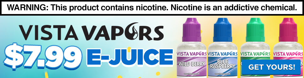 E-juice starting at 7.99 for a 32ml!