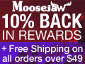 10% Back & Free Shipping over $49 at Moosejaw.com