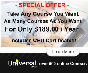 Platinum Membership - Take Any Course, As Many Courses - Only $189.00 / Year - Universal Class